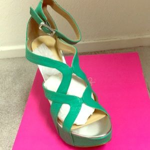 Shanni Green Wedges